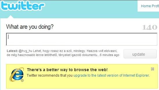 Van jobb módja is a webes böngészésnek, mondja a twitter