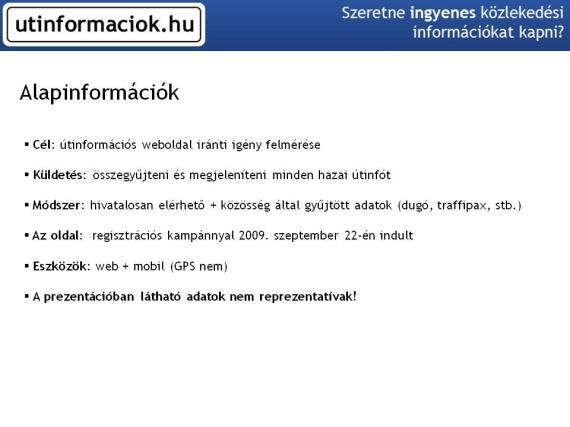 Az utinformaciok.hu célja és küldetése
