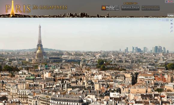 Az Eiffel torony a Microsoft HD view technológiával