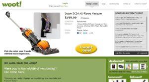 A woot.com a sárga gombra esküszik - jó ideje!