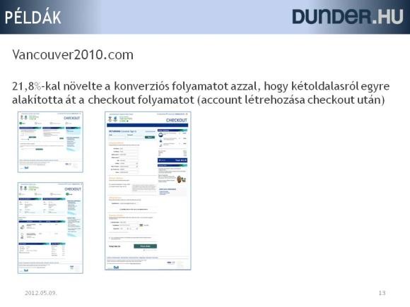 Checkout folyamat átalakításával konverzió növelés